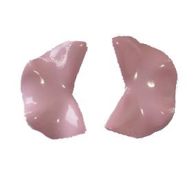 Örhängen Fortune Cookie, rosa