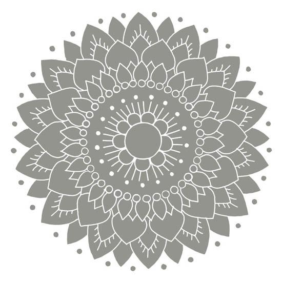 Kakeldekor, Lotus Grå 6 st