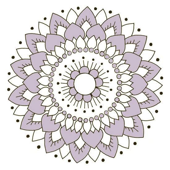 Kakeldekor, Lotus Lila 6 st