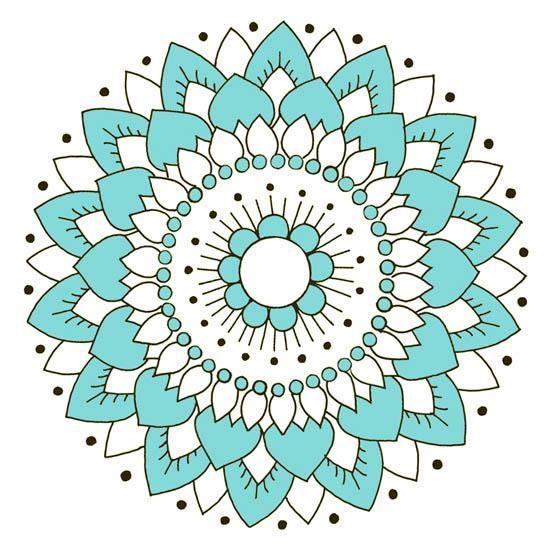 Kakeldekor, Lotus Turkos 6 st