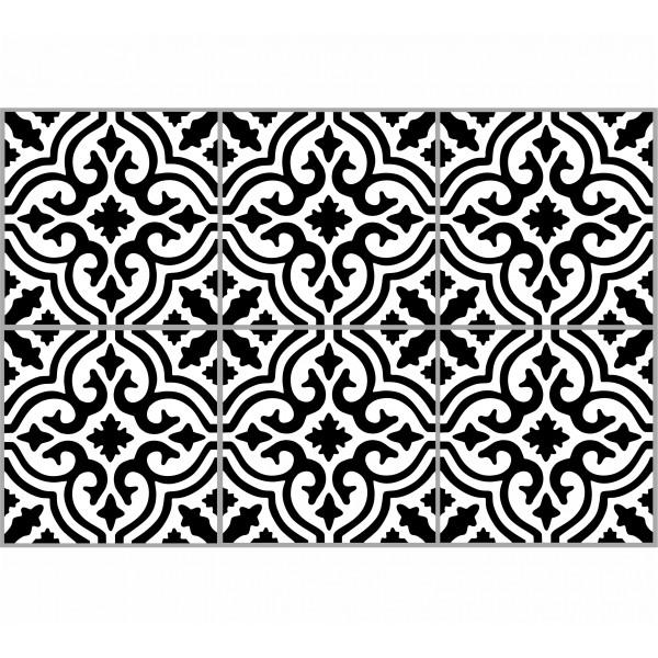 Kaakelitarra, Marrakech white/black 6 kpl