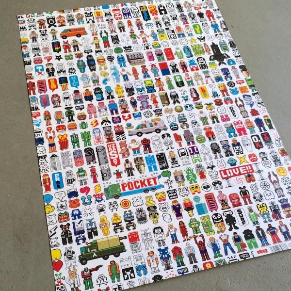 Paperiarkki/juliste, Eboy Figures
