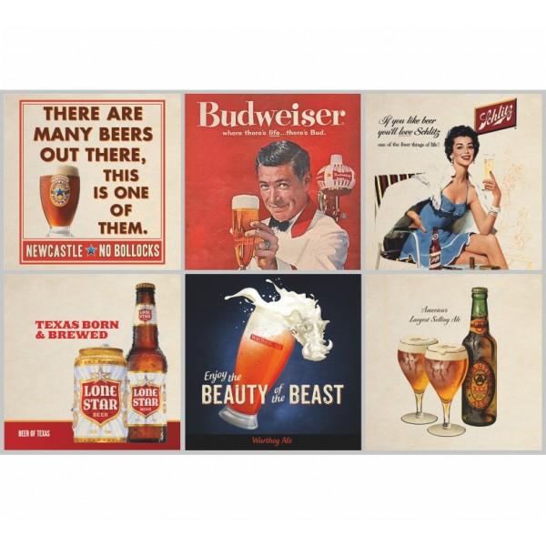 Kakeldekor, Retro Beer 6 st