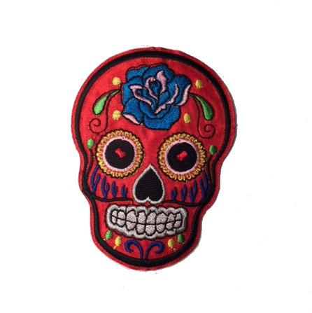 Kangasmerkki, Sugar Skull iso Punainen