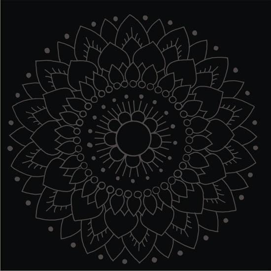 Kaakelitarra, Lotus Musta/musta 6 kpl