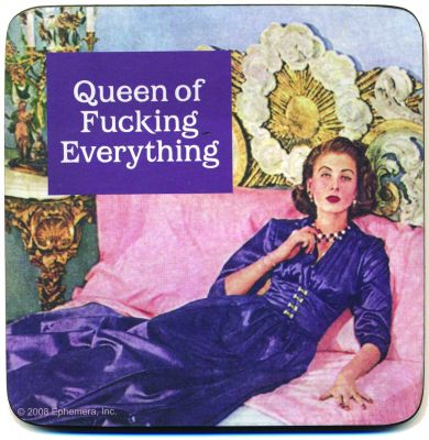 Lasinalunen (1 kpl), Queen of fucking everything