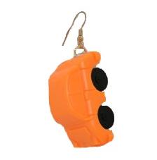 Örhänge Bil George, orange