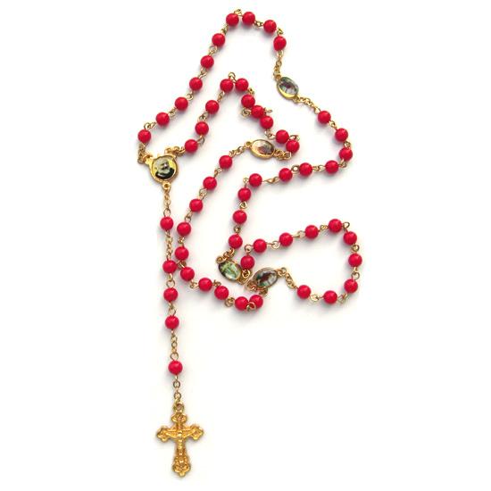 Halsband, Crucifix röd