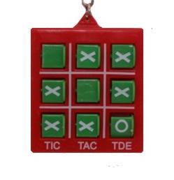 Örhänge Tic Tac Toe, Rödgrön