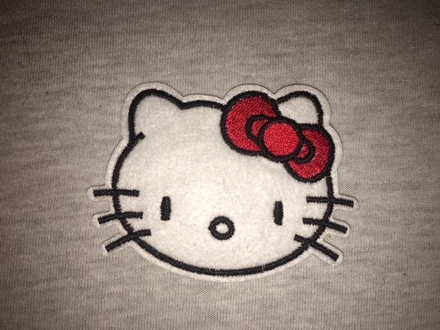 Tygmärke Hello Kitty, head