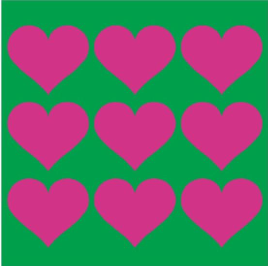Kakeldekor, Love Grön/Rosa 6 st