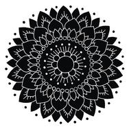 Kaakelitarra, Lotus Musta/Valko (6kpl)