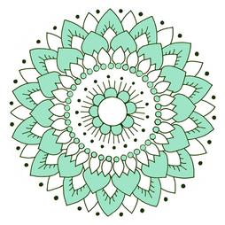 Kakeldekor, Lotus Mint 6 st