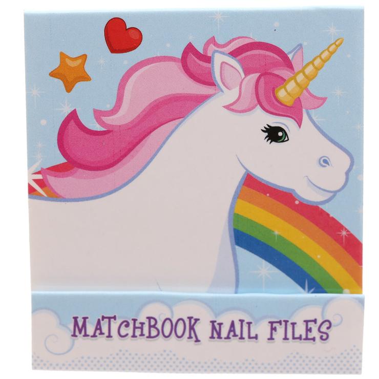 Nagelfil matchbook, unicorn