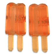 Örhängen glasspinnar mini, apelsin