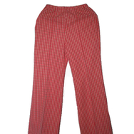 Housut, Mari knit flares, red checker w dots