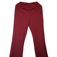Housut, Mari knit flares, red/brown
