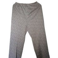Housut, Mari knit flares, grey w colours