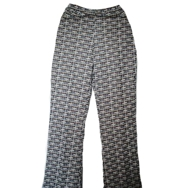Housut, Mari knit flares, retro pattern
