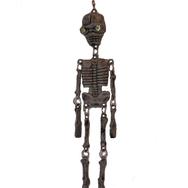 Örhänge Skelett, ljusgul