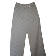 Housut, Bell Bottom, checker grey
