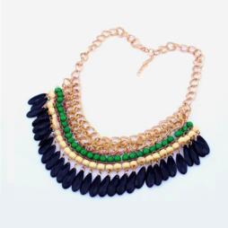 Halsband, Bohemian tassels, gold