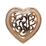 Brosch, Hjärta