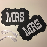 Photo booth rekvisita gay wedding, Mrs (2st)