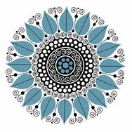 Kaakelitarra, Carla 60´s Sininen 6 kpl