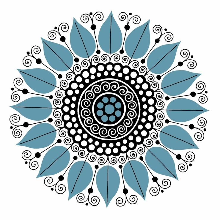 Kakeldekor, Carla 60´s Blå 6 st