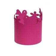 Kynttilälyhty Lintu 3 kpl, Pinkki