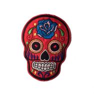 Tygmärke, Sugar Skull stor Röd