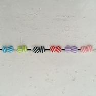 Örhängen, Stripes Caramel 1 par