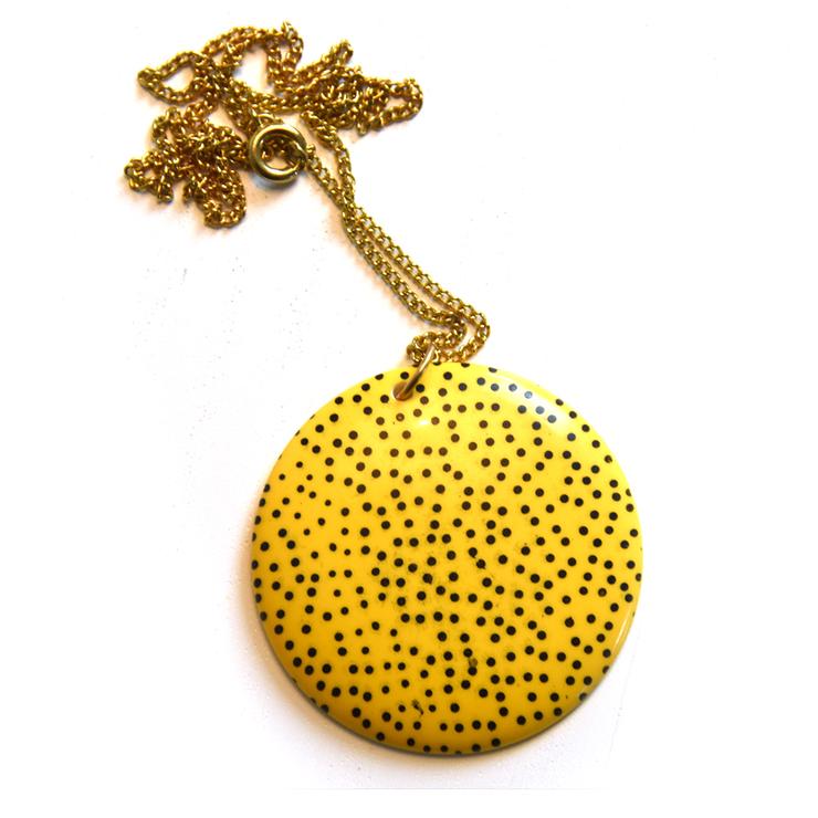Kaulakoru Dots, keltainen