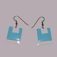 Örhängen Boxes, white&blue