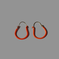 Örhängen Hoops (1,5 cm), orange