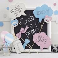 Photo booth rekvisiitta, Babyshower (10kpl)