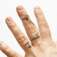 Ring, Peace w chain silver