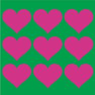 Kaakelitarra, Love Vihreä/Pinkki 6 kpl