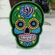 Tygmärke, Sugar Skull grön